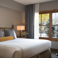 Teton Mountain Lodge and Spa bedroom with king bed