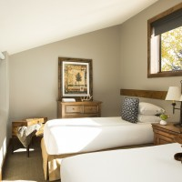 Teton Mountain Lodge and Spa bi-level loft twin beds