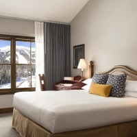 Teton Mountain Lodge and Spa bi-level master bedroom with king bed