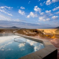 Teton Mountain Lodge and Spa rooftop hot tub