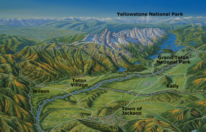 Jackson Hole Maps: Jackson Hole Central Reservations on
