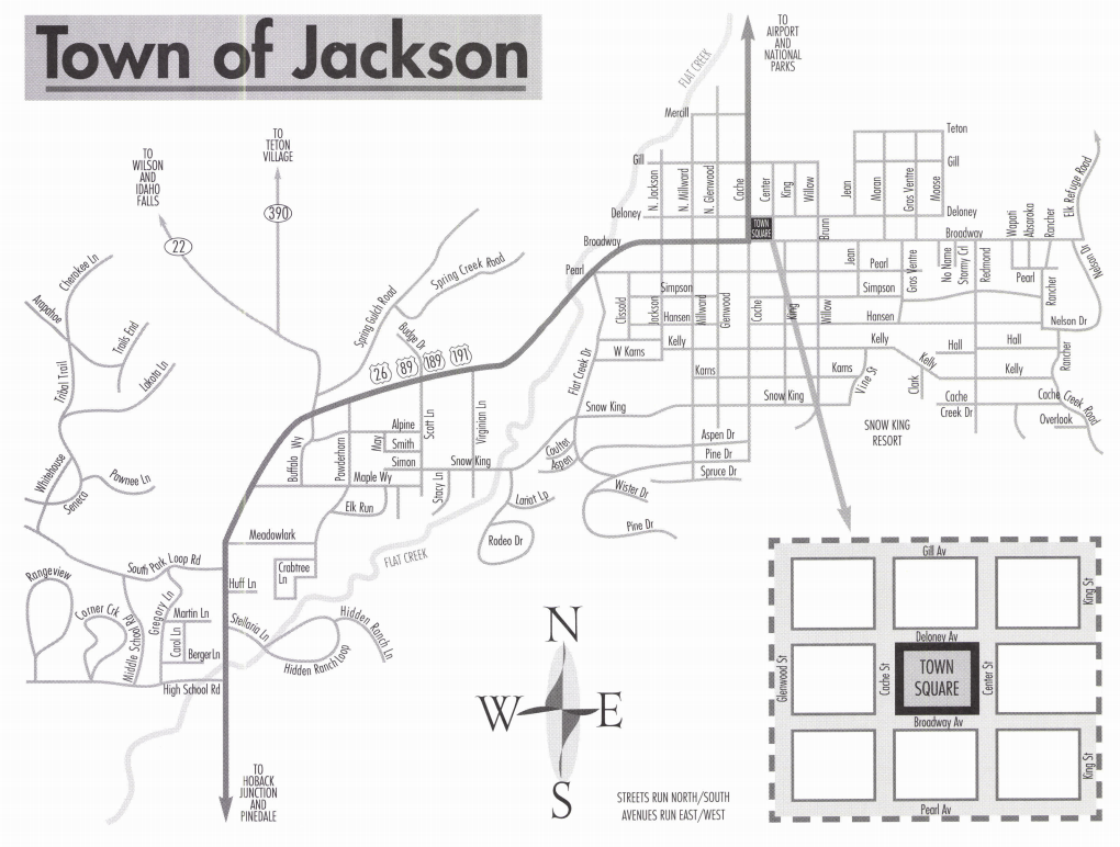 Jackson Hole Maps Jackson Hole Central Reservations - Wyoming map of cities and towns