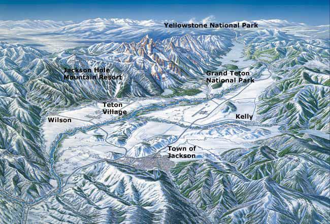 Jackson Hole Maps: Jackson Hole Central Reservations
