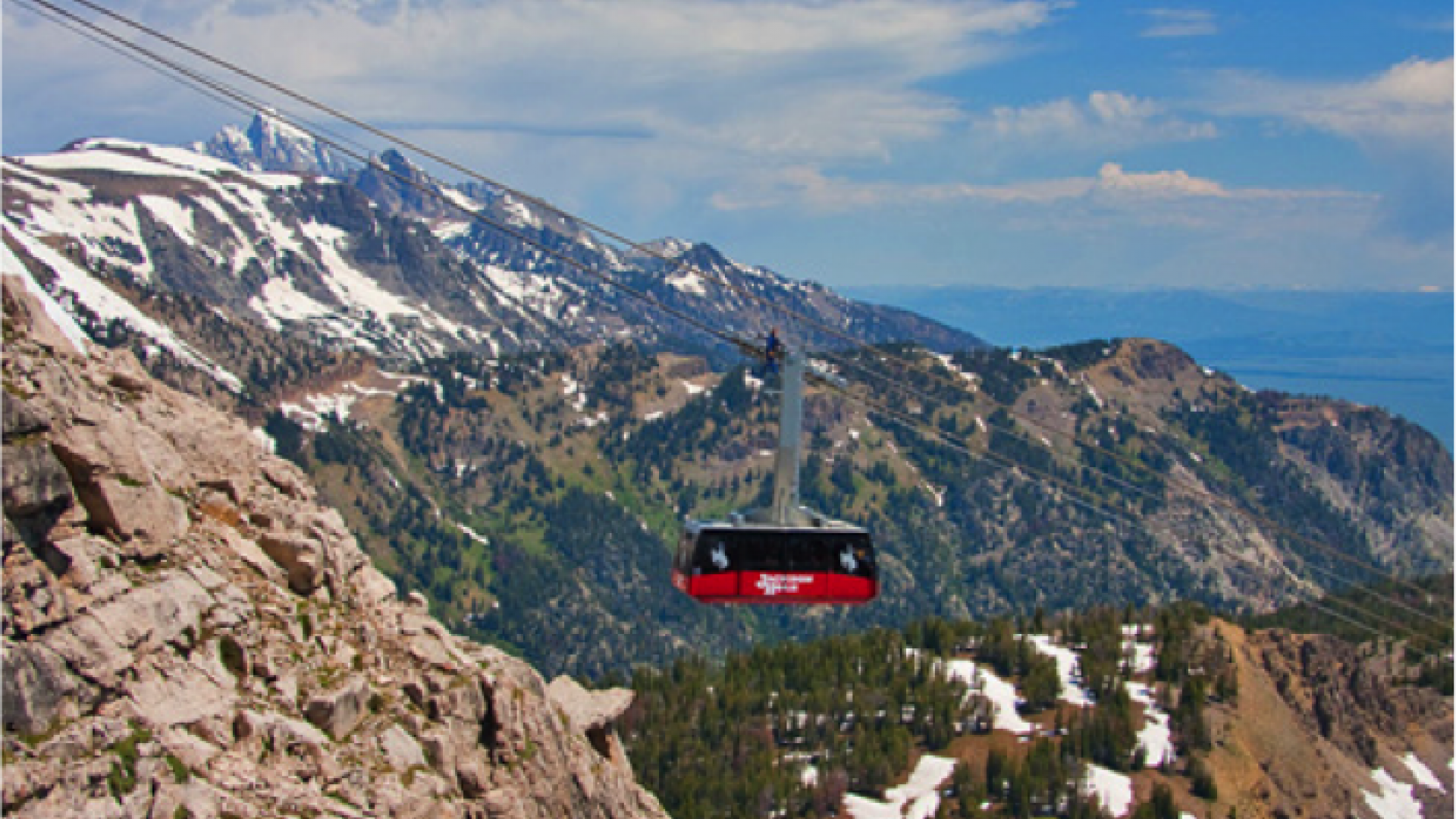 A summer ride on the jackson hole aerial tram for Jackson hole summer vacation