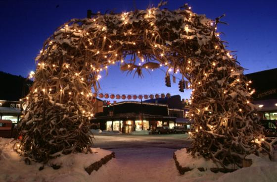 downtown Jackson Hole antler arches