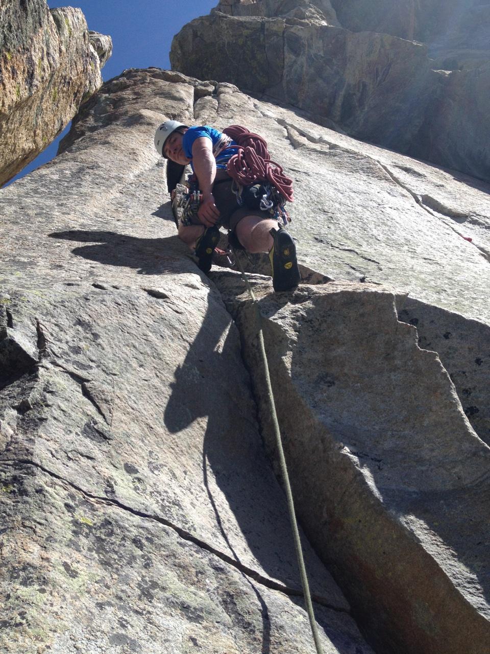 climbing in grand teton