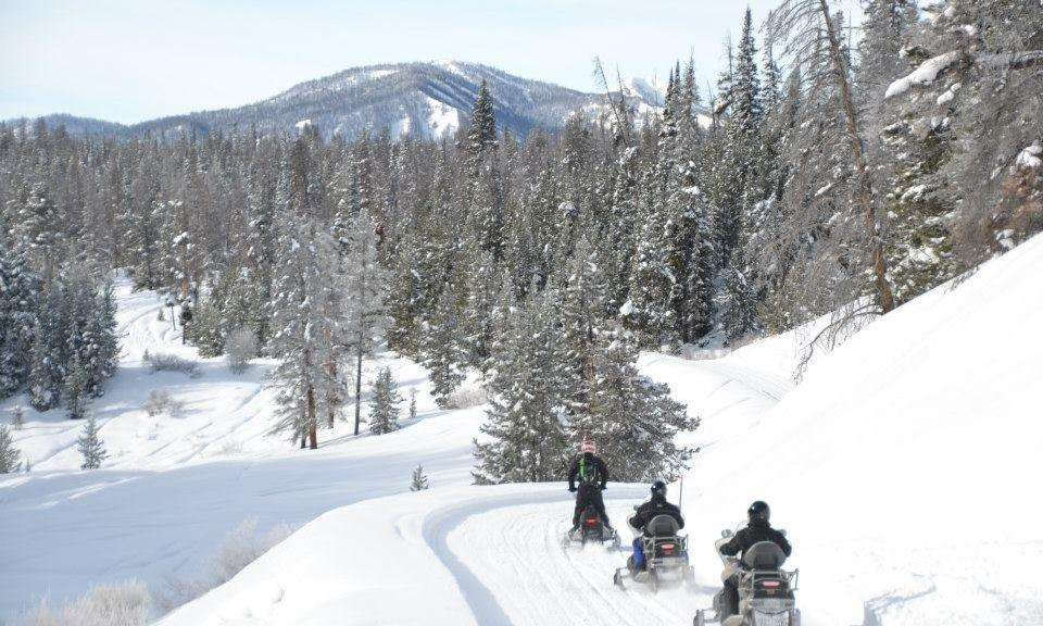 Winter Snowmobile Adventure in Jackson Hole