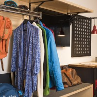 Storage in rooms.