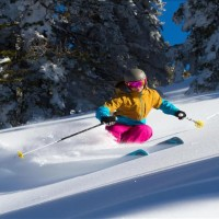 Skiing at Targhee