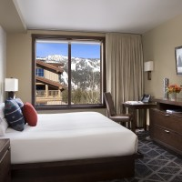 Hotel Terra Jackson Hole guest room with king bed
